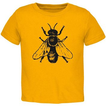 Honey Bee Bees Woodcut Toddler T Shirt