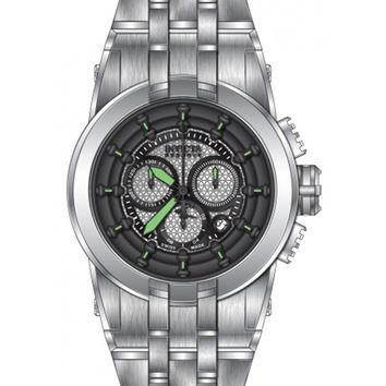 Invicta 14206 Mens Reserve Chrono Black & Silver Dial Steel Bracelet Dive Watch