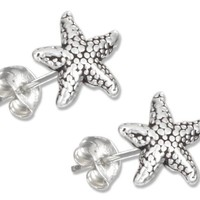 Sterling Silver Mini Starfish Earrings on Posts