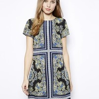 Oasis Scarf Print Shift Dress