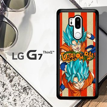 Son Goku Super Saiyan God Blue Z2614 LG G7 ThinQ Case