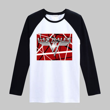 van halen lynyrd skynyrd Vintage fashion men women size raglan full sleeves long sleeves t shirt item NO. FLBMSS-113