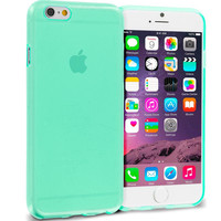 Mint Green Transparent TPU Rubber Skin Case Cover for Apple iPhone 6 Plus 6S Plus (5.5)