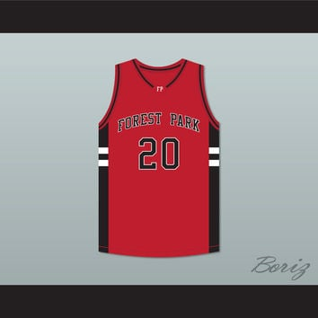 Jacob Whitmore 20 Forest Park Highlanders Basketball Jersey Streetballers