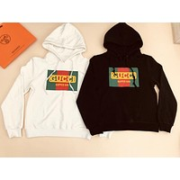 GUCCI Autumn Winter Fashion Women Casual Letter Print Long Sleeve Hoodie Sweater Pullover Top Sweatshirt