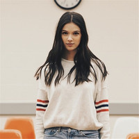 Pullover White Winter Sweater [9582841935]