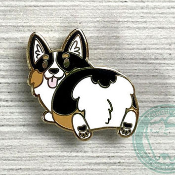 Corgi Butt Hard Enamel Pin - Tri Color