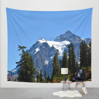 Wall Tapestry - 'Close View of Mount Shuksan' - Home Decor - Wall Decor, Modern, Home Warming Gift, Symmetry, Bohemian, Boho, Floral