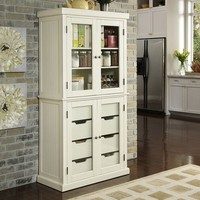 Home Styles Nantucket Distressed China Cabinet
