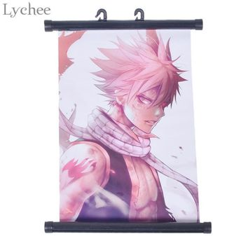 Lychee Japan Anime Fairy Tail Natsu Poster Canvas Scroll Painting Home Wall Print Modern Art Decor Poster