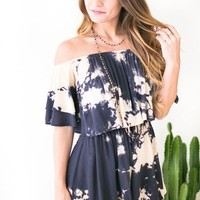 Tie Dye For Off Shoulder Romper