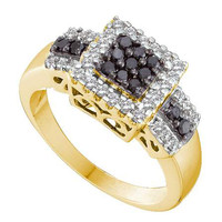 Diamond Ladies Fashion Ring in 14k Gold 0.53 ctw
