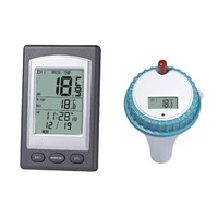 Wireless Digital Thermometer In Swimming Pool Spa Tub
