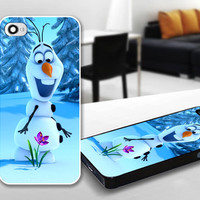 Disney Funny Olaf Frozen Movies Print Case for iPhone 4/4s, 5, 5c, 5s, Samsung S3, S4