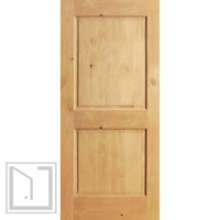 S/W-97 Interior Knotty Alder 2 Panel Single Door