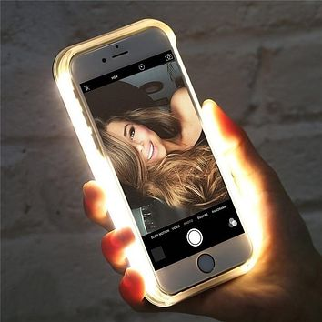 Luxury Light up LED Glowing Case for iPhones 7, 7Plus, 8, 8Plus, X, XR, XS, XS MAX