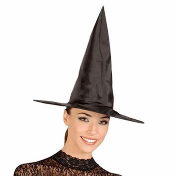 1pc Witch Hat Cap For Halloween Costume Accessory Party Props Party Supplies Cool Adult Women Black Fashion hot sale s2