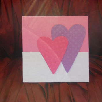 Mini Card Set- Set of 10 mini Cards - Two Hearts Valentine's Day Card Set
