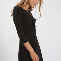 PETITE Lace Up Flippy Dress - Dresses - Clothing