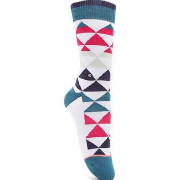 Stance Triadular Tomboy Geo Print Socks - Womens Scarves - Pink - One
