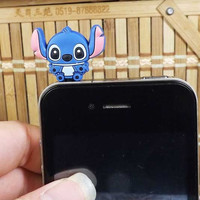 Cute Double Faces Stitch Interstellar Baby Dust Plug  3.5mm Smart Phone Dust Stopper Earphone Cap Dustproof Plug Charms for iPhone 4 4S 5