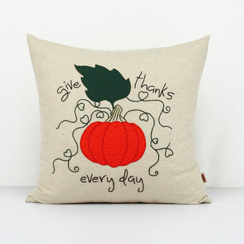Fall Pumpkins Decoration pillows,Jack Pumpkin Pillow,Autumn Decor,Hand Embroidery Stitchery cushion covers,Halloween Decor throw pillow