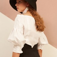 Off-Shoulder Puffy Shirt