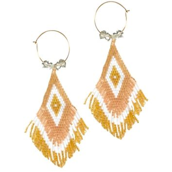 Blaine Bowen - Flona Fringe Earrings - Champagne