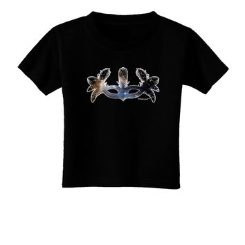 Galaxy Masquerade Mask Toddler T-Shirt Dark by TooLoud