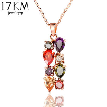 17km Trendy Crystal Copper Alloy Link Chain For Women Necklace