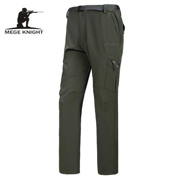 MEGE Men Breathable Windproof Waterproof Pants,  Softshell Radiation Protection Quick Dry Hunt Hike Pants