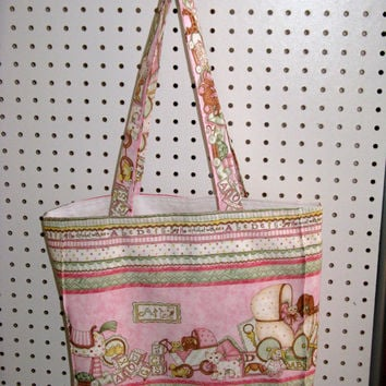 Adorable Baby Girl Tote Bag