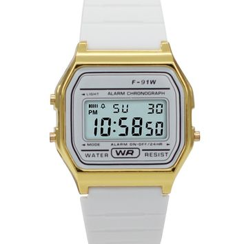 Sporty White Silicon Digital Watch