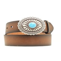 Ariat Turquoise Oval Buckle Belt - Ladies and Belts | EQUESTRIAN COLLECTIONS.COM
