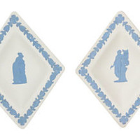 Wedgwood Jasperware Trinket Trays, Pair