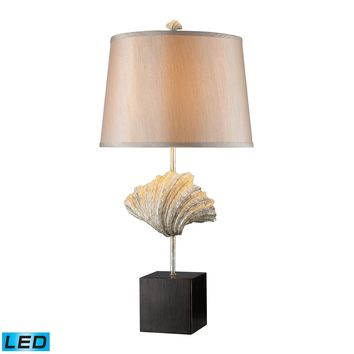D1976-LED Edgewater LED Table Lamp In Oyster Shell And Dark Bronze - Free Shipping!