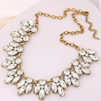 Star Jewelry Vintage Jewelry Crystal Flower Chokers Necklace Necklaces & Pendants Woman Gift