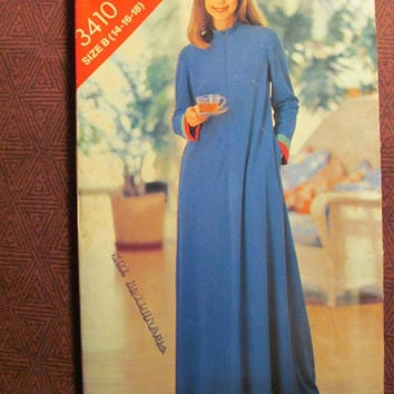 Sale Uncut 1980's Butterick Sew & Sew Sewing Pattern, 3410! 14-16-18 Medium/Large/Women's/Misses/Kimono or Caftan Style Robes/House Robe/Bod