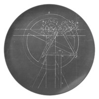 Industrial Engineering Chalkboard 3 Melamine Plate