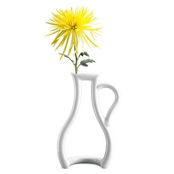 Moma Ceramic Japan Ceramic Bud Outline Flower Vase