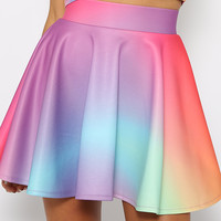 O'Mighty - Crayon Skater Skirt - Multicolor Skirt