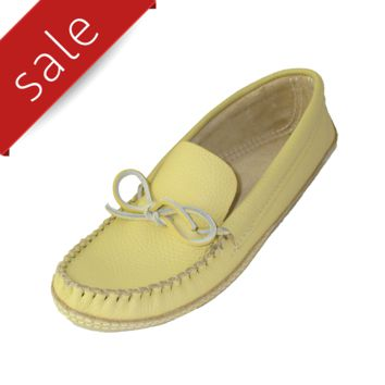 Men's Soft-Sole Cowhide Leather Moccasins - Deer Tan