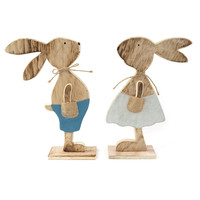 easter rabbit decoration 1 pair big wood lovers easter bunnier decoration for home & garden flame treatment