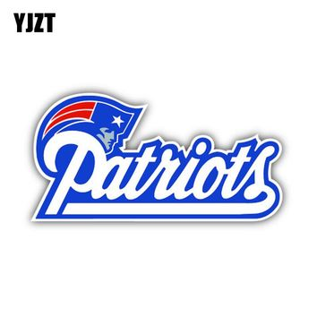 YJZT 12CM*6CM New England Patriots Car Sticker Helmet Accessories Motorcycle Decal 6-1290