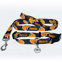 Green Bay Packers NFL Dog Collar & Leash Set (Medium)