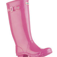 HUNTER HUNTRESS PINK GLOSS TALL EXTENDED CALF BOOT Sizes 7 - 9 Wide Welly