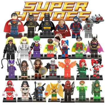 Justice League Superman Batman Aquaman LegoINGlys DC Super Heroes Building Blocks Figures Toys Joker Robin Arrow The Flash Gifts