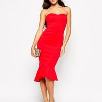 ASOS Petite | ASOS PETITE Pephem Bandeau Midi Dress at ASOS