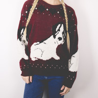 Vintage Puppy Dog Sweater