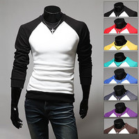 Long Sleeve Men's Raglan Tee